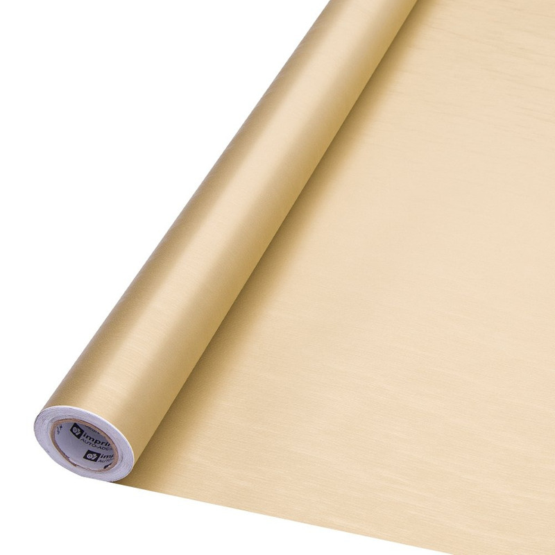 Vinil adesivo colormax ouro escovado larg. 1,0 m
