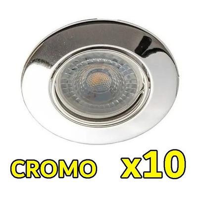 Pack X 10 Spot Embutir Acero Led 7w 220v Luz Desing Rd