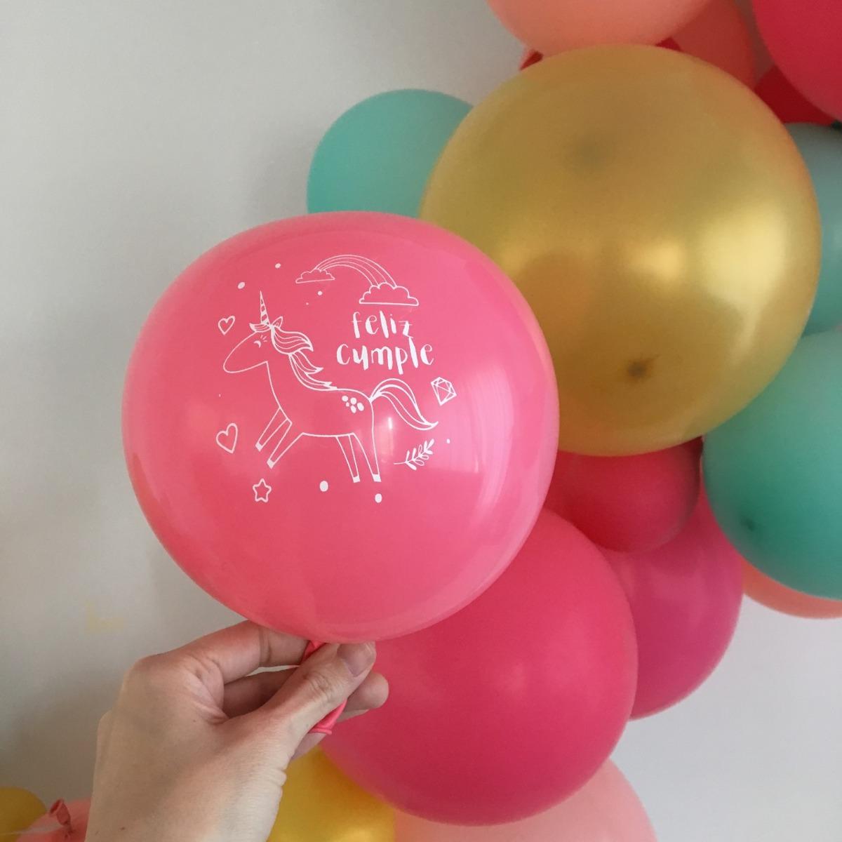Pack de globos de latex Unicornio