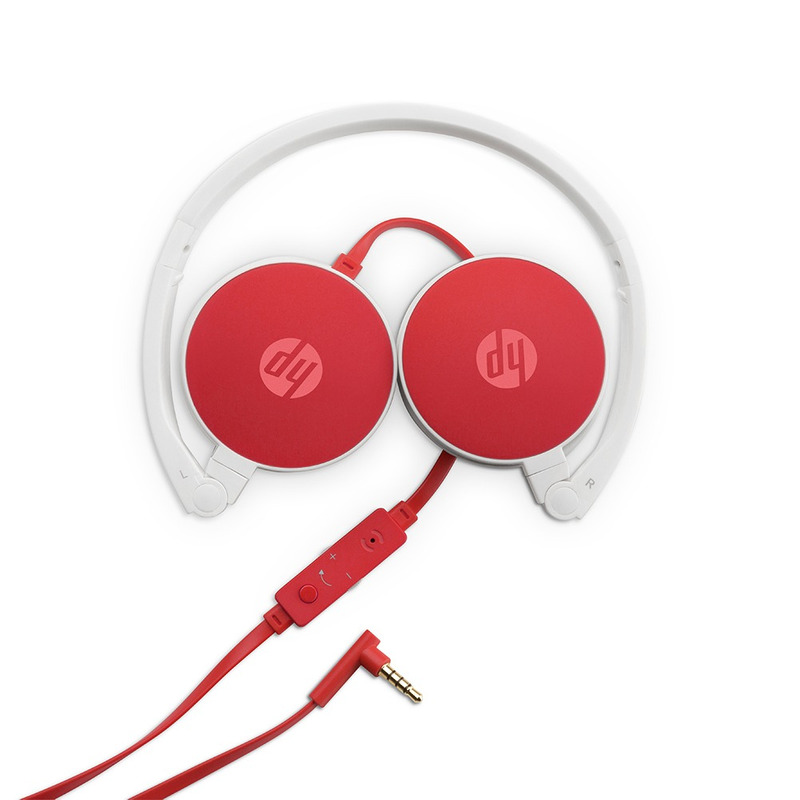 HEADSET DOBRÁVEL HP H2800 CARDINAL RED