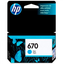 Cartucho Hp 670 Cian Original P/ 3525 4625 5525