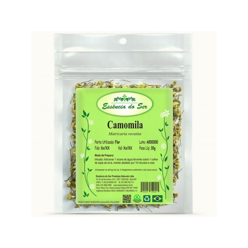 Cha de Camomila - Kit 3 x 30g - Essencia do Ser