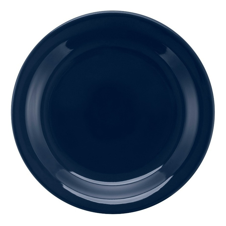 Set X 6 Platos Postre 20 Cm. Redondo Oxford Ceramica Azul
