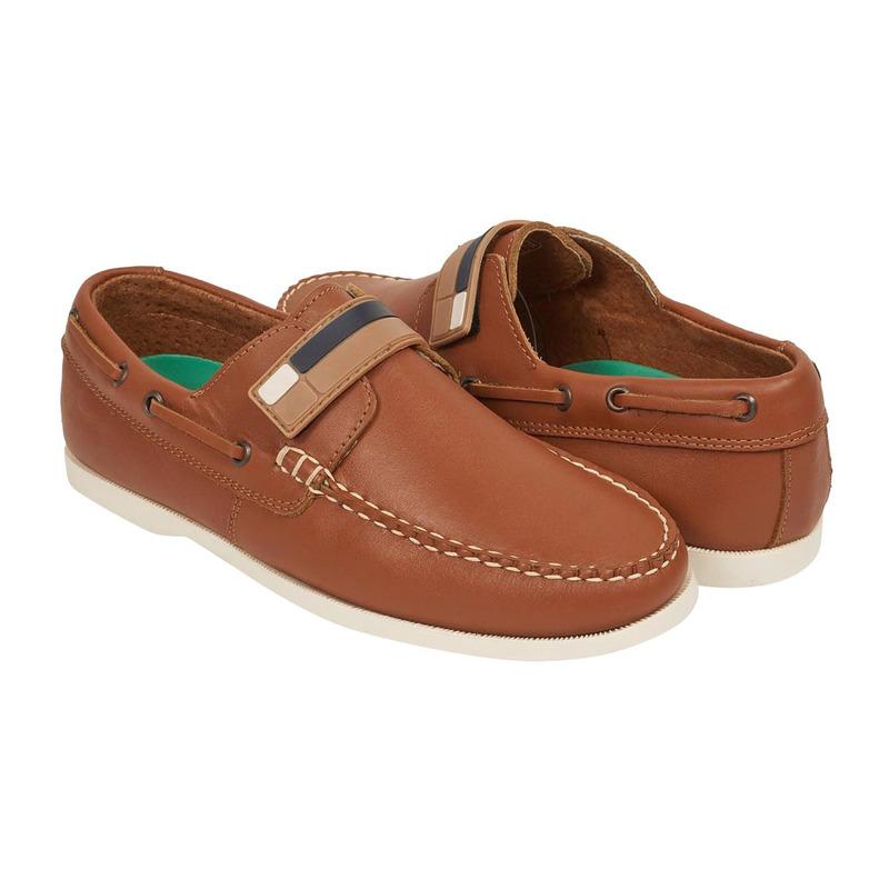 Zapato miel con franja 018715