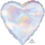 globo corazon iridiscente 45cm desinflado apto helio