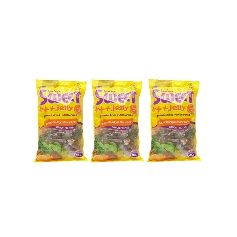 Balas de Algas (Sortidas) Kit 3 x 200g Sweet Jelly