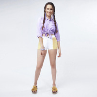 Short Blanco Con Amarillo 019472