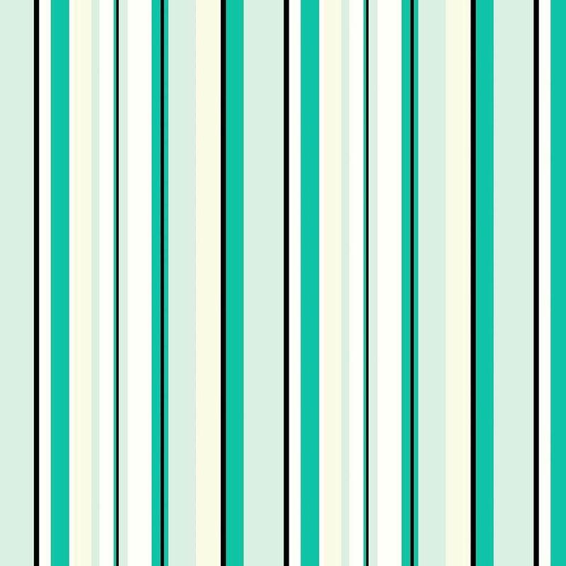 Tecido impermeável Acqua Soleil listrado irion verde turquesa