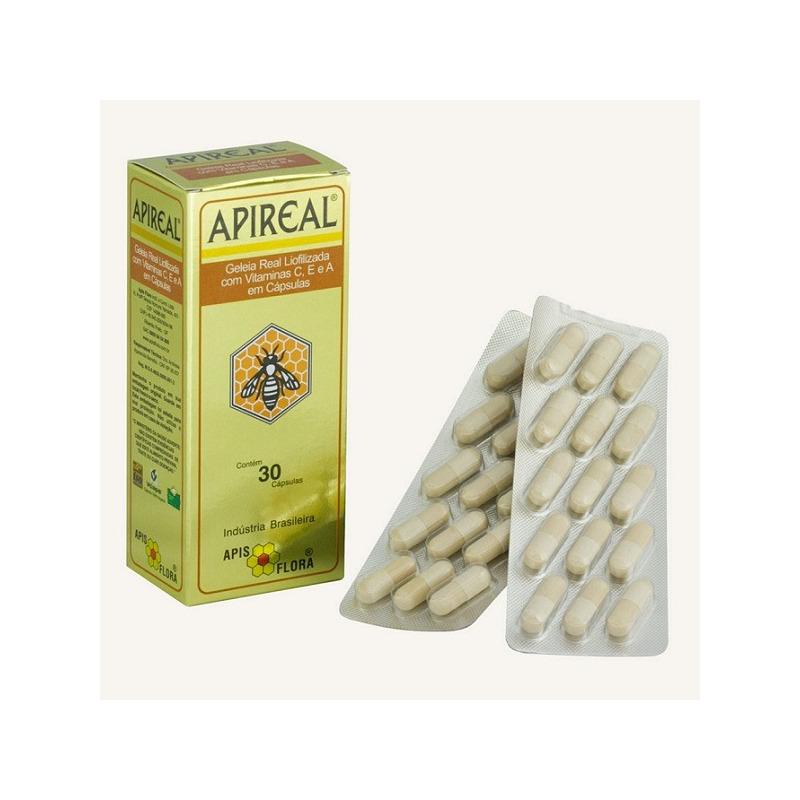 Apireal (Geleia Real Liofilizada) 30 Caps. 100mg Apis Flora