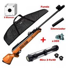 Rifle Aire Comprimido Fox Gr1600 X-nitro Piston + Mira Funda