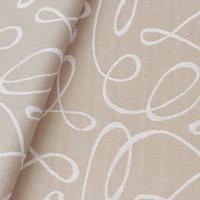 Tecido jacquard  riscado - bege/branco - Impermeável - Coleção Panamá