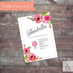 Invitación digital TD008 (Flor...