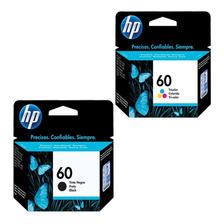 Combo Cartucho Hp 60 Negro 60 Color Oferta Original
