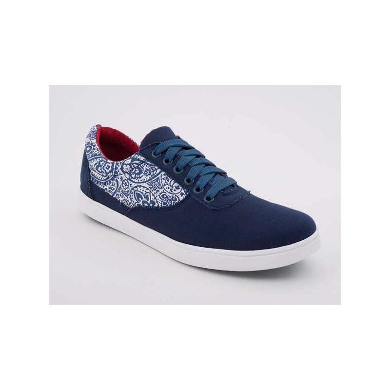 Sneakers marino con blanco  018329
