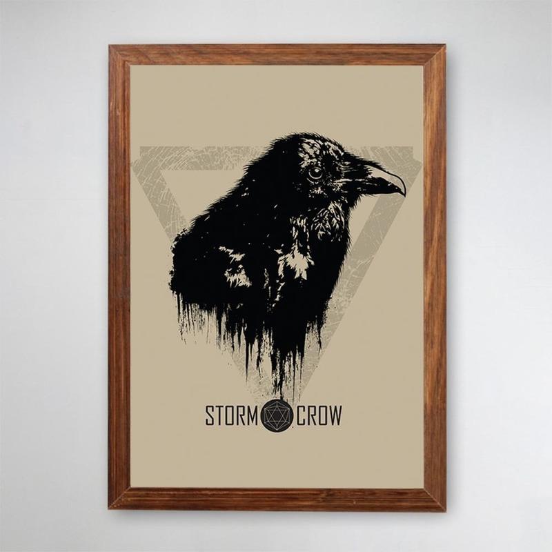 PÔSTER COM MOLDURA - STORM CROW