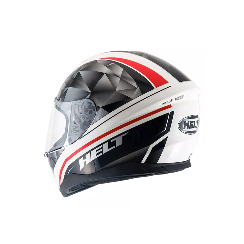 Capacete Helt New Race Carbo Preto e Branco