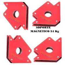 Kit Herreria 4 Soportes Escuadra Magnetica Soporta 34kg Dogo