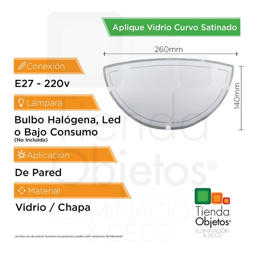 Pack Aplique Bajo Pared X2 Curvo Vidrio Consumo Satinado Led zVSMUp