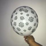 globo huella patita perro desinflado apto helio