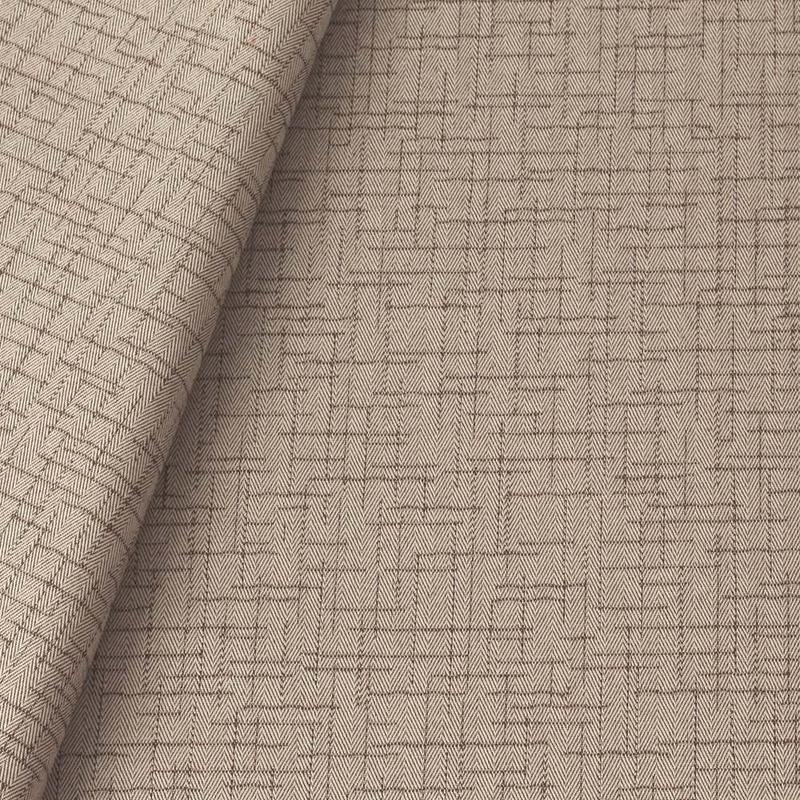 Tecido jacquard para sofá falso liso - bege/marrom - Impermeável - Coleção Panamá