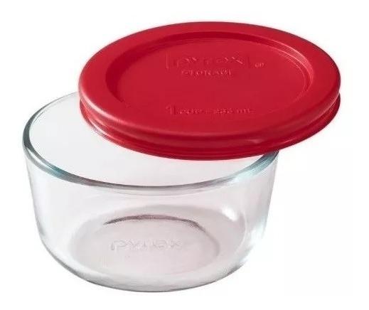 Fuente Pyrex Redonda Con Tapa 236 Ml Freezer Microondas