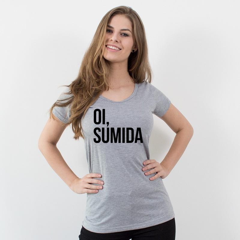 CAMISETA CINZA - OI SUMIDA