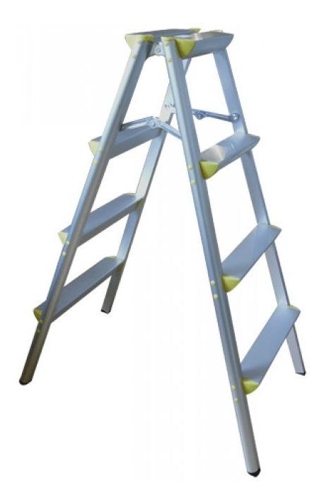 Escalera Aluminio Doble Cara Tijera 4 Escalones Liviana