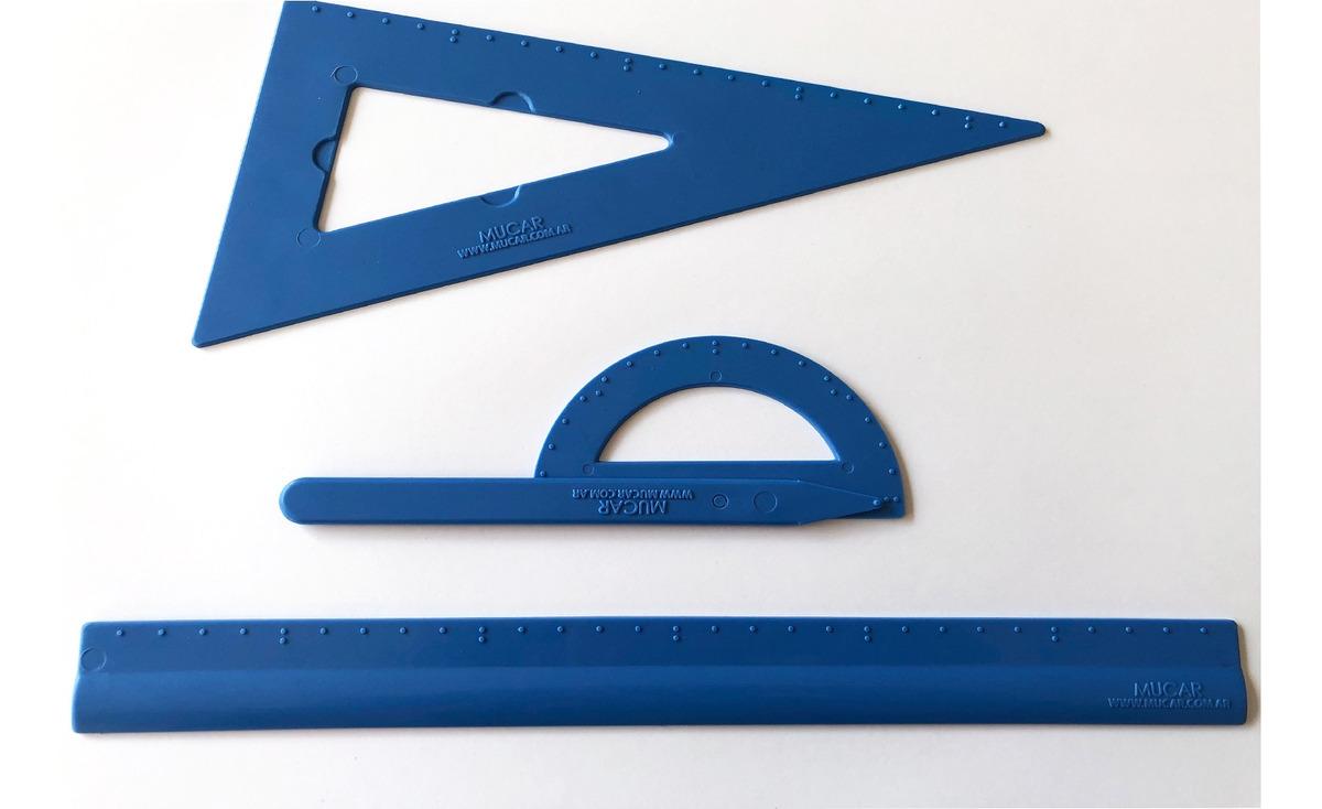 Kit geometría braille