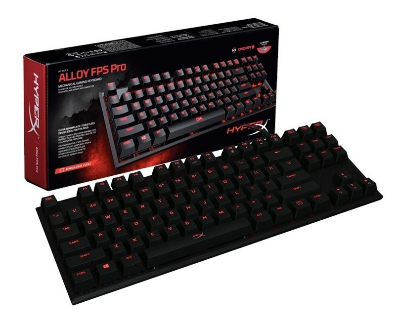 Teclado Mecanico Gamer Hyperx Alloy Fps Pro Mx Blue Tactil Led Ingles Gtia Oficial