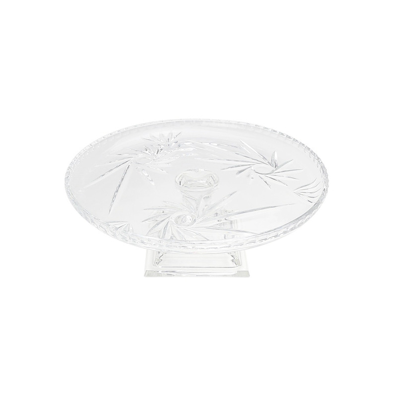 Prato para Bolo com Pé De Cristal Prima 30,5X12Cm 4103680