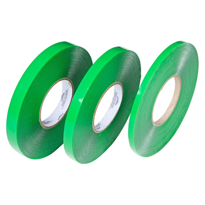 Fita dupla-face silicone verde 15 x 20 x 1mm