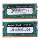 Memória Macmemory 16gb (2x8gb) 1600Mhz DDR3L Corsair Original Lacrada