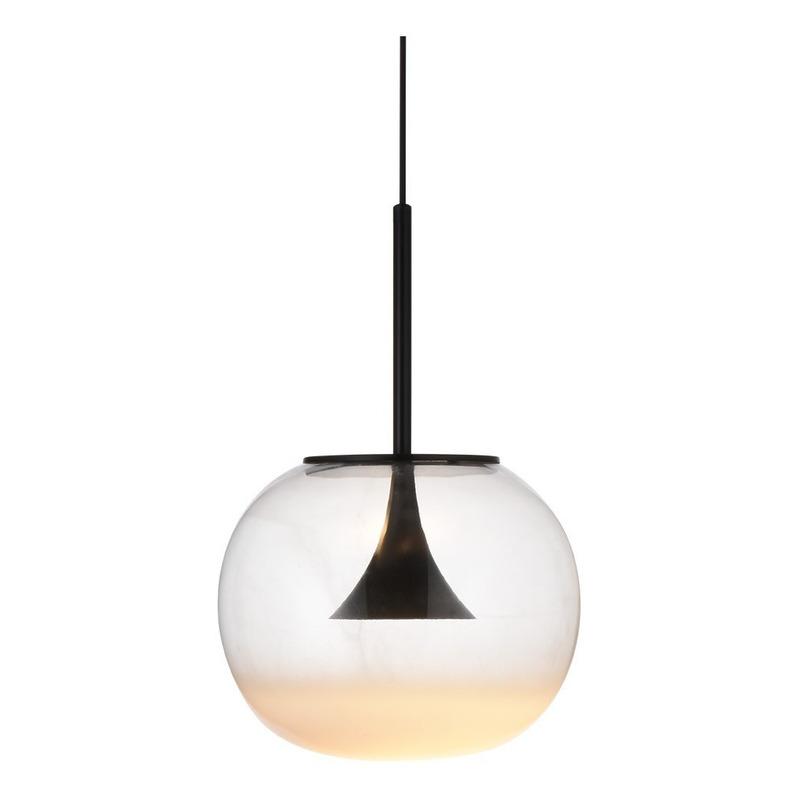 Lámpara Colgante 1 Luz Lepto Vidrio Led 7w Deco Moderno Lk