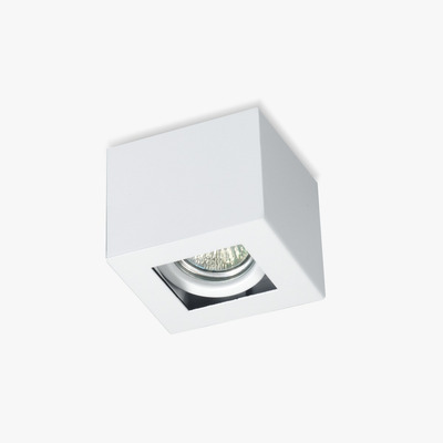 Plafon 1 Luz Con Led 7w Antideslumbrante Blanco Movil