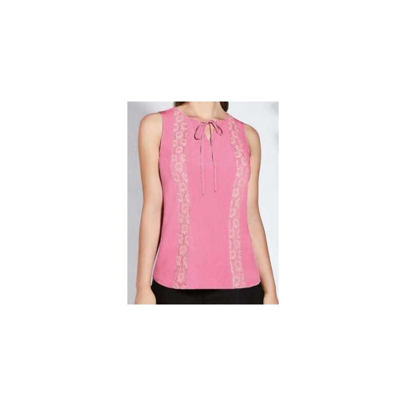 Blusa estampada rosa de tirantes 015498