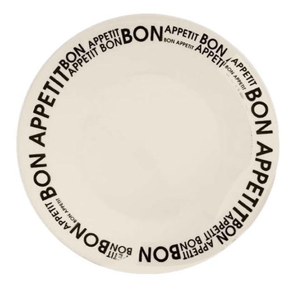 Plato Playo Redondo Biona Bon Appetit Loza Decorado