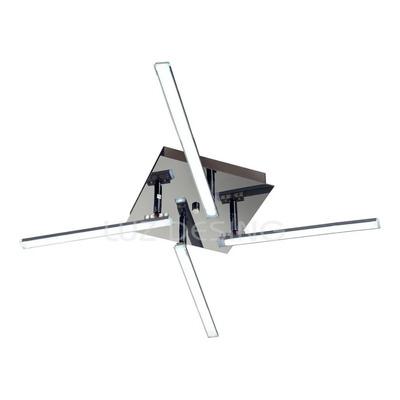 Plafon Led Fénix Móvil 40w Alta Potencia Cromo Moderno