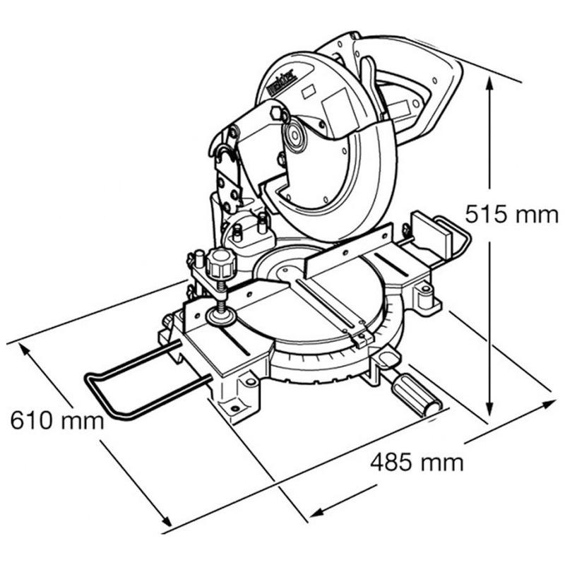 Serra de Esquadria 255 mm (10 Pol) 1.500 Watts - MLS100 - Makita