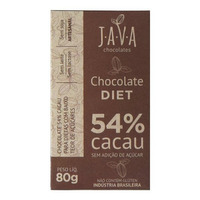 Chocolate Diet 54% Cacau - 80g - Java