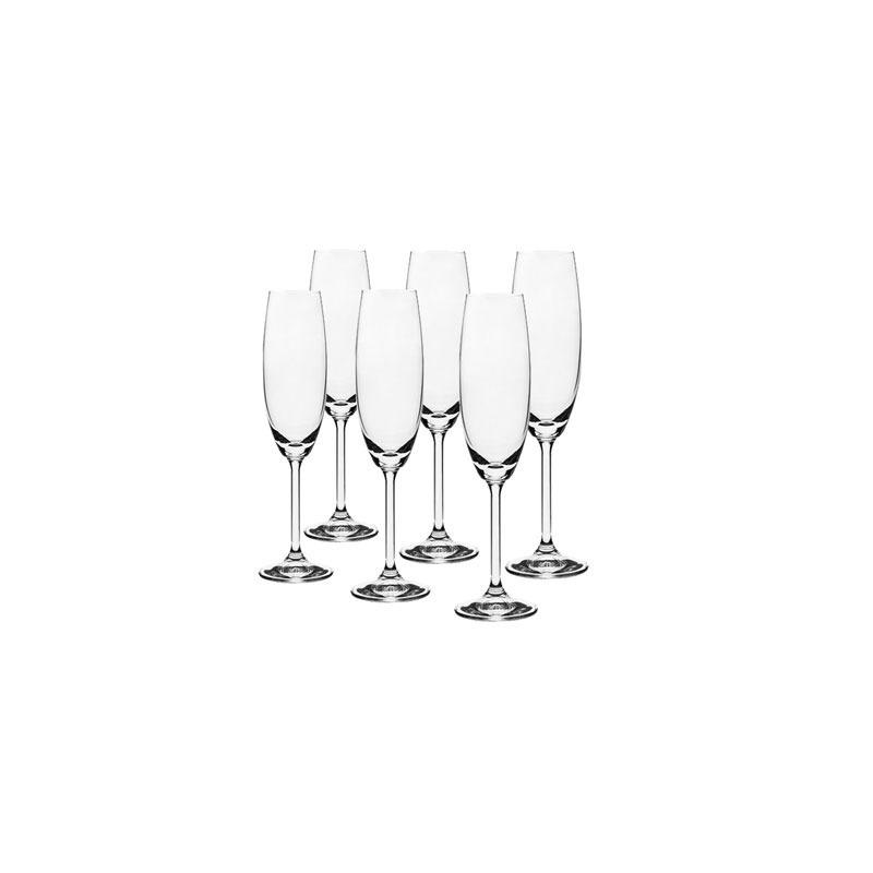 Jogo 6 Taças Cristal Champagne 220Ml Gastro - Bohemia 7556079