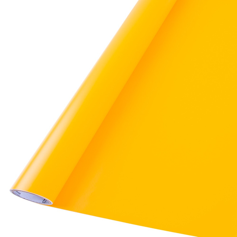 Vinil adesivo maxlux amarelo translúcido larg. 1,22 m