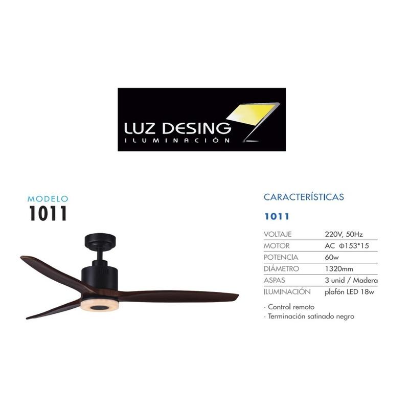 Ventilador Techo Luz Led Control Remoto Mod 1011 Ax