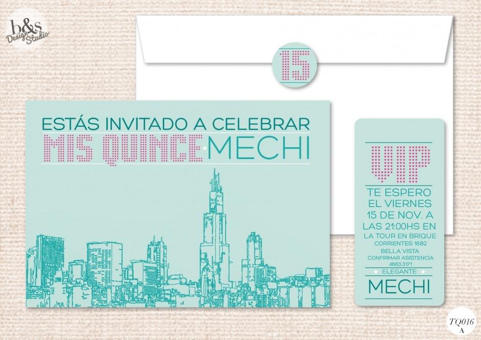 Invitación 15 años TQ016