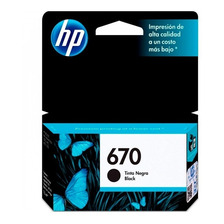 Cartucho Hp 670 Negro Original P/ 3525 4625 5525