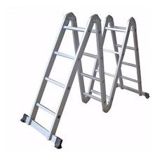 Escalera Aluminio Plegable Multifuncion 4x4 Reforzada 16 Esc