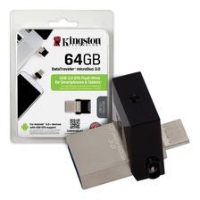 Pendrive Dual 64gb Kingston Dtduo3 Usb 3.1 Microusb Celular