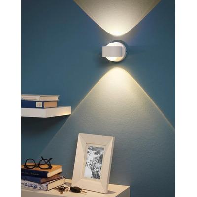 Aplique Pared Ono Led 1 Luz Blanco Aluminio Moderno Eglo