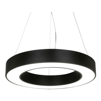 Colgante 48w Yasas Negro Con Led Integrado Deco Moderno Lk