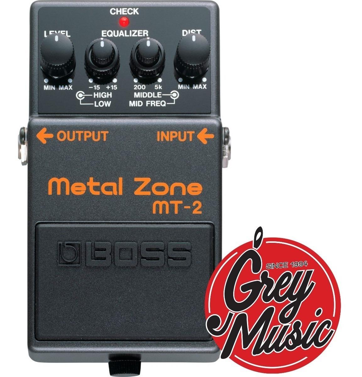 Pedal Para Guitarra Electrica Boss Mt2 Metal Zone
