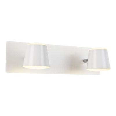 Aplique Pared Led 2 Luces 12w Blanco Baño Deco Moderno Mks